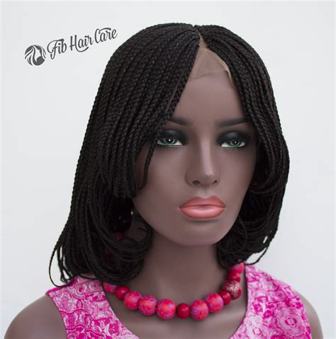 Handmade Wigs - front lace braided wig cap handmade lace front fully