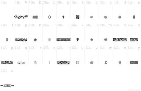 celtic pattern fonts celtic patterns font