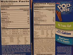 Healthy Toaster Pastries Pop Tarts Nutrition Facts