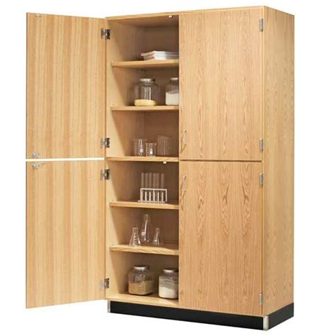 Level Cabinets by Diversified Woodcrafts Split Level Storage Cabinet With
