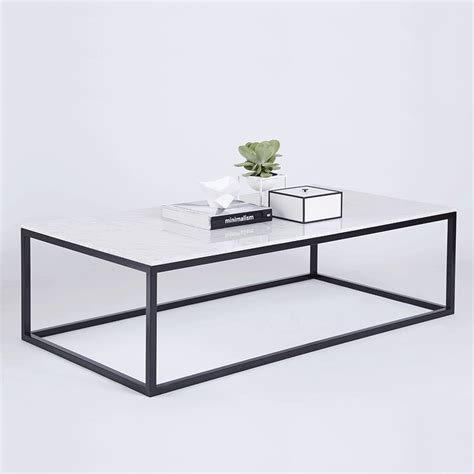 marble and metal coffee table modern designer marble coffee table black steel metal