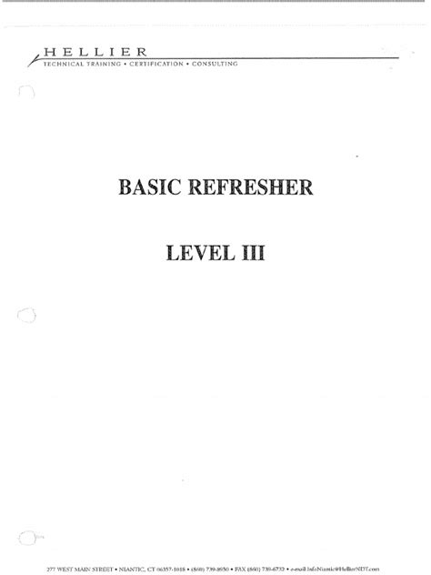 BASIC LEVEL III-heller refresher.pdf | Nondestructive