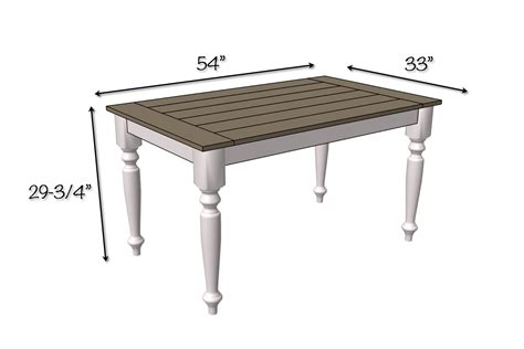 Dimensions Dining Table Diy Solid Oak Farmhouse Table Free Easy Plans