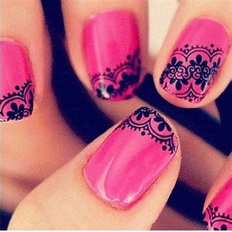 Nagel Patronen by 50 Beautiful Pink And Black Nail Designs 2017