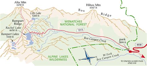 enchantments trail map rart lakes brett on stuff