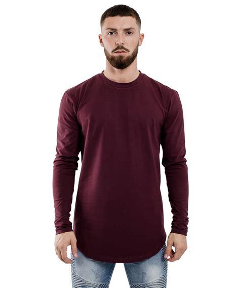 Longsleeve Tara Shirt oversize side zip longsleeve shirt burgundy clothing shop