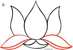 Lotus Flower Drawing Step By Step How To Draw A Lotus Flower Clipart Best