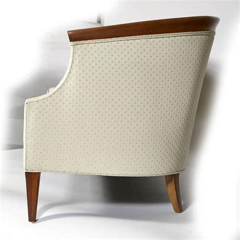 walnut sculpted sofa by erwin lambeth for tomlinson