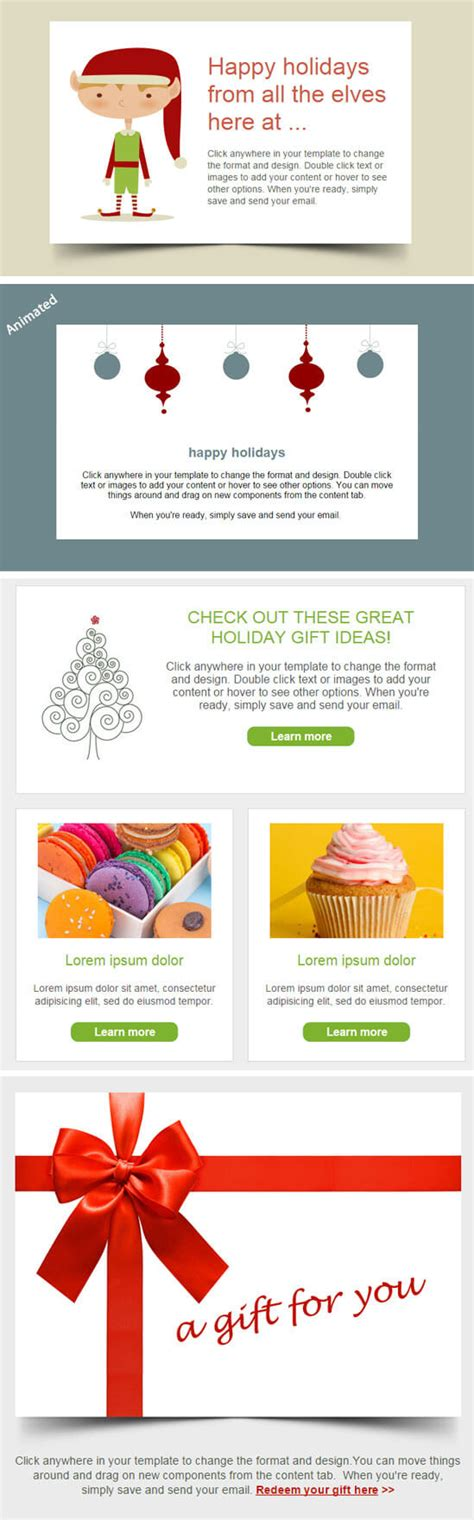 christmas email themes free christmas email templates are live