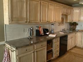 Painting And Glazing Kitchen Cabinets by Distressing Diy