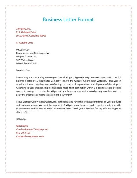 how to format a business letter letters free sle