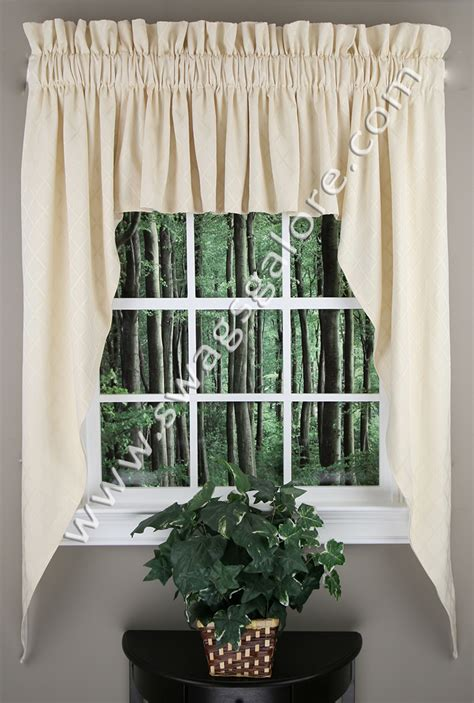 swag jabot curtains bridget lined 63 jabot chagne renaissance home