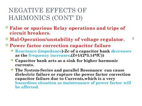 effects of harmonics on power factor correction capacitors vivek harmonics