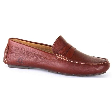 Driving 81 Brown Dr Mocc chatham mens escape brown leather slip on moccasin driving
