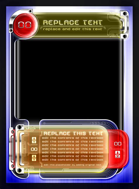 scifi tcg card template card design trading card template style 02 by