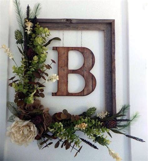 Monogram Wreath For Front Door 20 Stunningly Beautiful Diy Fall Wreaths The Happy Housie