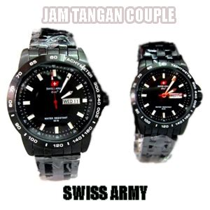 Jam Tangan Swiss Army Cauple Day Date On Stainlist Black List Gold info seputar harga jam tangan