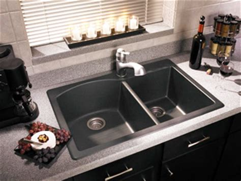 Swan Granite Kitchen Sink Swanstone Qzdb 3322 170 Granite Bowl Drop In Kitchen Sink Espresso Pictured In Nero