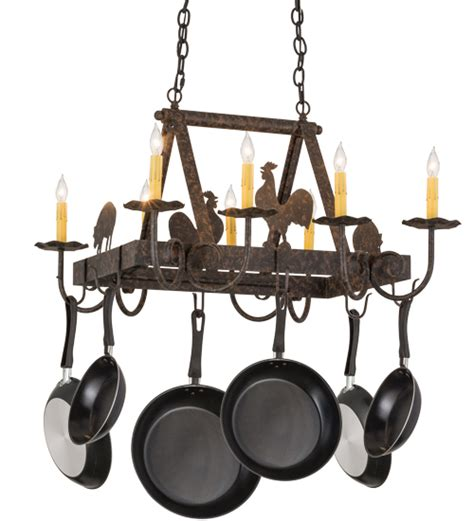 Hanging L Holder by Overhead Hanging Kitchen Island Barn Animals Rustic Pot