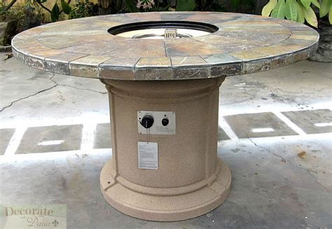 Outdoor Propane Gas Pit Gas Fireplace Pit Outdoor Slate Top Lava