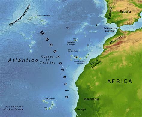 islas canarias y africa mapa el mentidero de mielost las islas canarias desde el mito