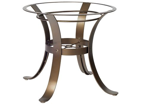 woodard cascade wrought iron dining table base 2w4800