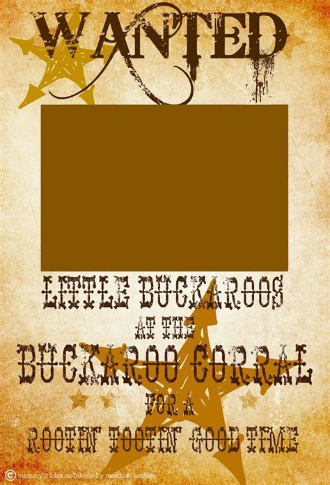 Free Western Wanted Sign Western Farm Cowboy Cowgirl Birthday Party Free Printables Western Themed Invitations Templates Free