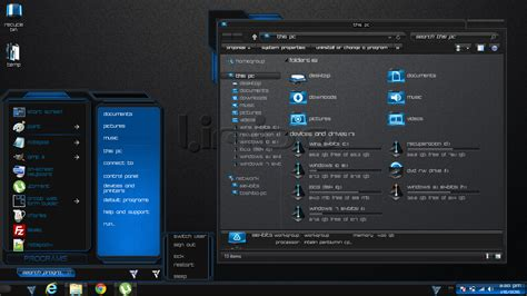 themes black for windows 8 1 windows 8 1 theme blue limbo by newthemes on deviantart