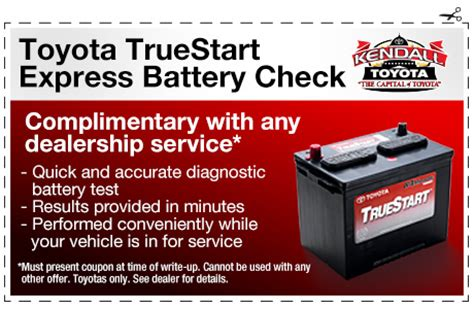 Toyota Battery Coupon Toyota Service Center Coupons