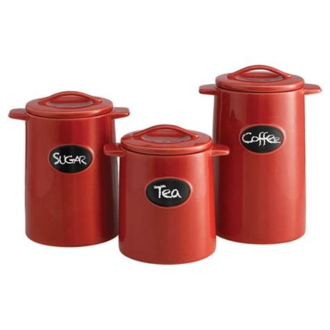canister set 3 earthenware canister set with
