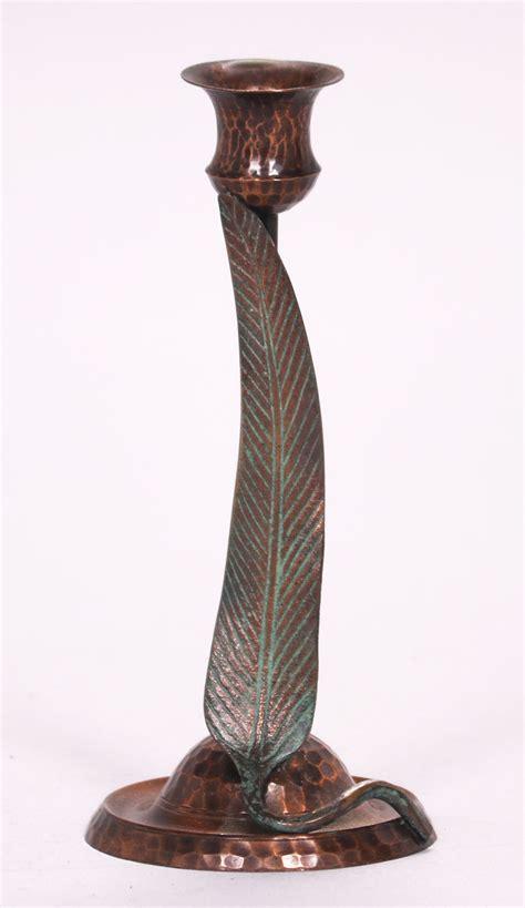 candlestick copper hammered 50cm s o u l old mission kopper kraft eucalyptus candlestick