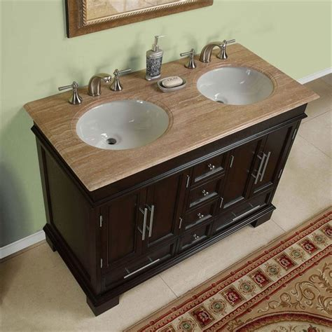 bathroom with 2 sinks 48 inch sink vanity cabinets and vanities