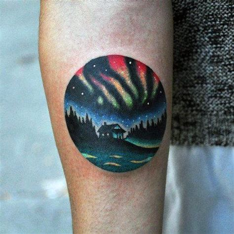 aurora tattoo 50 northern lights designs for