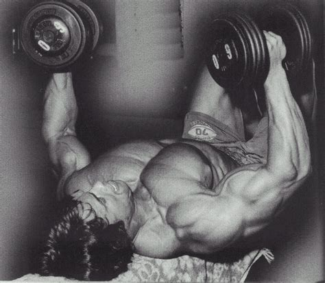 arnie bench press arnold workout train body and mind