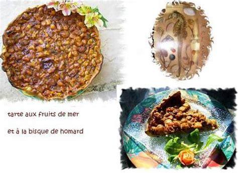 cuisiner les st jacques surgel馥s recette de tarte aux fruits de mer et 224 la bisque de homard