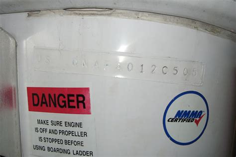 boat manufacturer identification code hin numbers
