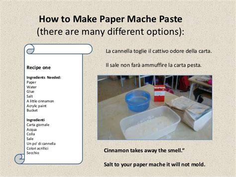 How To Make Paper Mache Paste - carta pesta paper mache paste