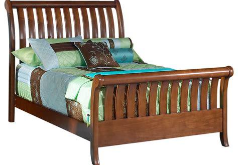 twin size sleigh bed santa cruz cherry 3 pc twin sleigh bed beds dark wood