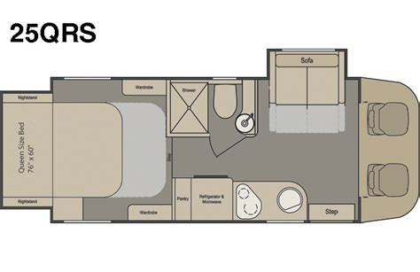 renegade motorhome floor plans 2015 renegade 25qrs villagio class b motorcoach roaming