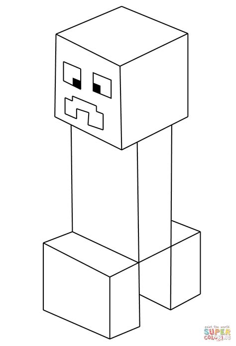 pin creeper minecraft colouring pages on pinterest
