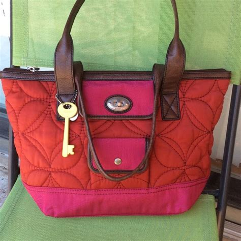 Fossil Totte Big Size Bag In Bag fossil fossil large quilted key per tote bag from jadranka s closet on poshmark
