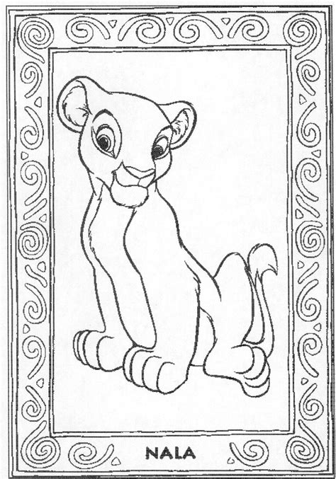 lion king nala coloring pages nala coloring book
