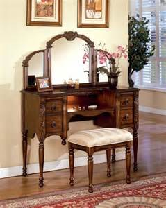 Makeup Vanity Set Antique Antique Oak Makeup Vanity Table Set W Mirror