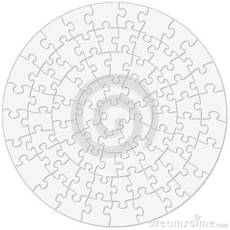 Circular Jigsaw Puzzle Vector Illustration Stock Vector Circular Jigsaw Puzzles