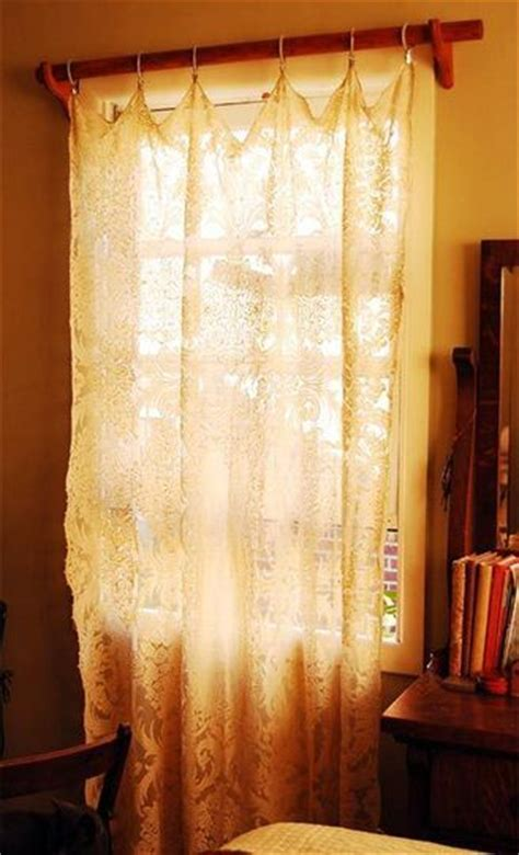 diy lace curtains beautiful tablecloth curtains and easy diy on pinterest
