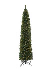 Pre Lit Trees - 9 ft pre lit ticonderoga pencil tree