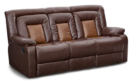 sofa console mustang dual reclining sofa with console brown