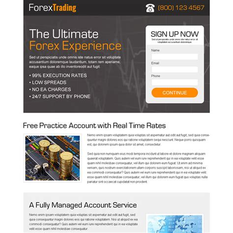 subscribe page design forex trading landing page design templates to boost your