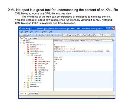 xml layout notepad light o rama xmlfileformatusedbylor2 sfv6