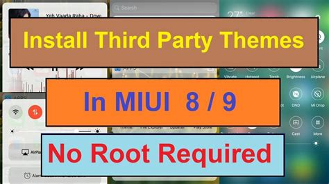 miui themes from third party how to install third party themes on miui 8 9 for all